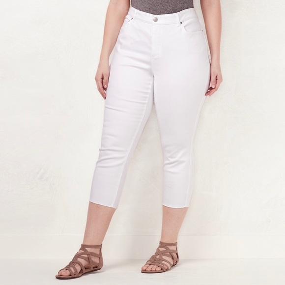 LC Lauren Conrad Pants - LC Lauren Conrad Plus Size Capri Skinny Jeans 18 W